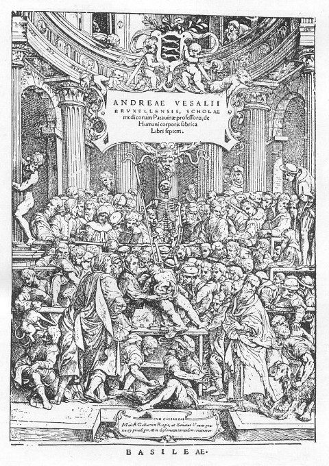 The title page of De Fabrica